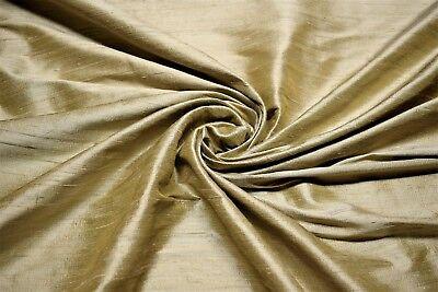 Gold Sand Drapery 100% Silk Fabricut Shalini Sahara Fabric 54