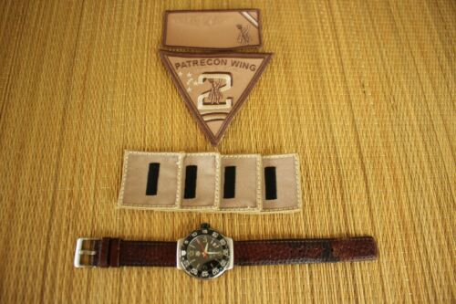 TAG HEUER WAC1110 MILITARY PILOT AVIATOR AIRCREW LARGE CROWN F1 DIVER + PATCHES