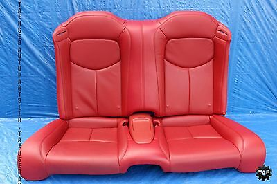 2009 infiniti g37 s convertible oem red leather rear seats - Infiniti g37 red interior for sale ...