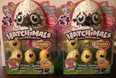 2 lot - Hatchimals Colleggtibles Season 3 - 4 Pack & Bonus NEW