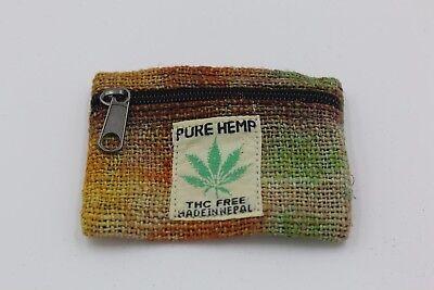 100% Hemp bag ~  handmade Pouch/Coin purse (multiple color choices)