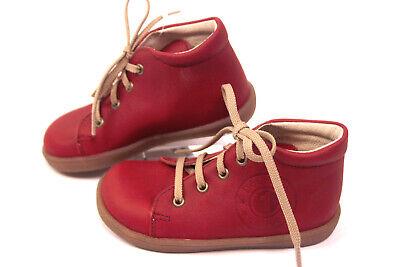 DÄUMLING Mädchen Jungen Halbschuhe Leder Lauflern Schuhe schmal - Rote Schuhe Für Mädchen