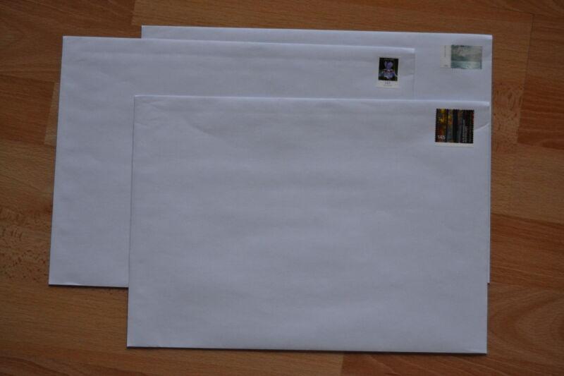 30 Briefumschläge Versandtaschen frankiert mit 1,45€ C4 229x324mm Haftklebung