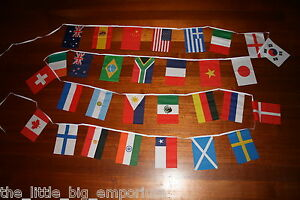 30 Country Flag  - 9 Metres International World Flags Banner String Bunting
