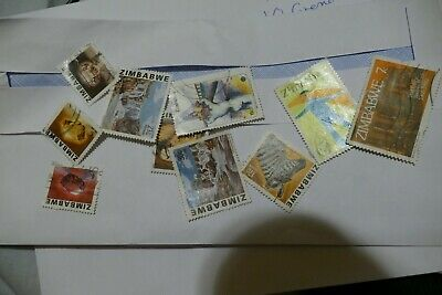 10 Zimbabwe Africa used postage stamps postal philately philatelic mail