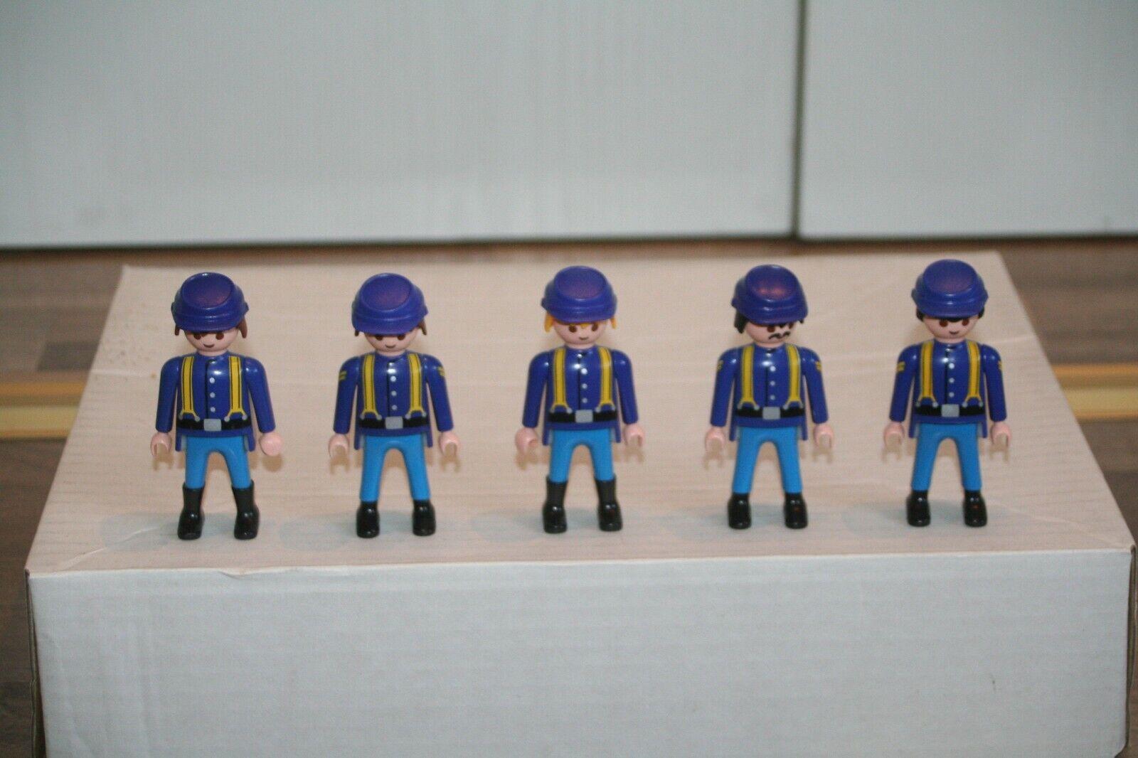 Playmobil Soldaten 5 Gewehre mit Bajonette Hellbraun ACW Nordstaaten Südstaaten