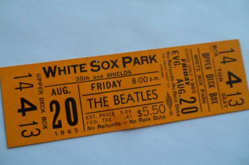 THE BEATLES 1965__White Sox Park *** UNUSED *** CONCERT TICKET__Super nice!!  EX