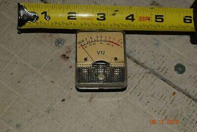 Vintag Vu Meter Panel Meter Stereo Amp Weston Western Electric Stereo Tape