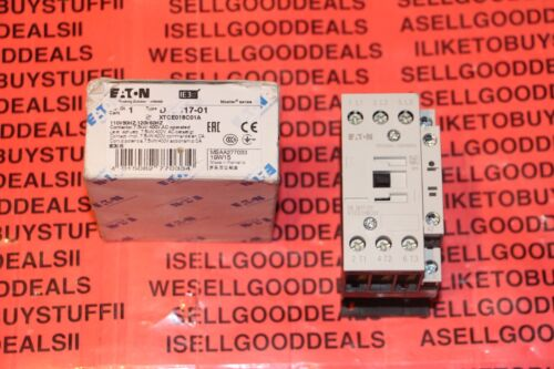 Eaton/Moeller DILM17-01 Contactor 110-120VAC XTCE018C01A DILM1701 New