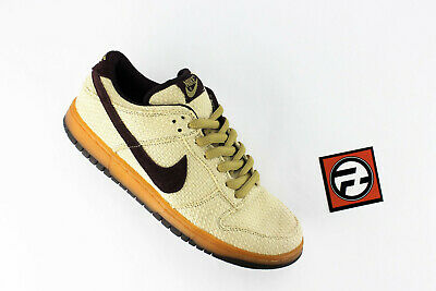 finest selection ee859 d84a8 Nike Dunk Low SB Hemp Pack Jersey Gold Red Mahogany Sz 9.5 2003  304292 761