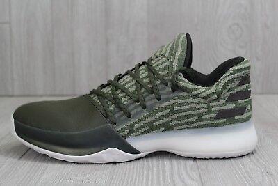 8bdb434226b0 32 RARE Adidas James Harden Vol 1 PK Basketball Shoes Green Sz 14 B75631