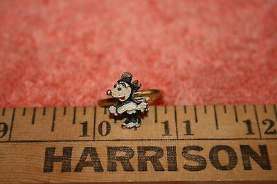 1940's Minnie Mouse Ring Walt Disney Prod. Adjustable Size