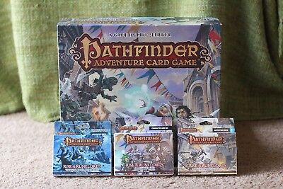 Pathfinder Adventure Card Game Rise Of The Runelords Base Plus Expansions
