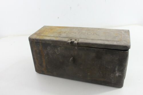 Vintage Antique Fordson Toolbox For Tractor Old Farm yard Tool Advertising