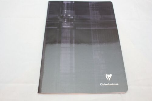 """Clairefontaine Staplebound Notebook  8"""" X 11"""" French Ruled Black"""