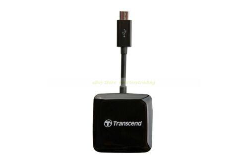 Transcend USB 2.0 OTG Card Reader, Black