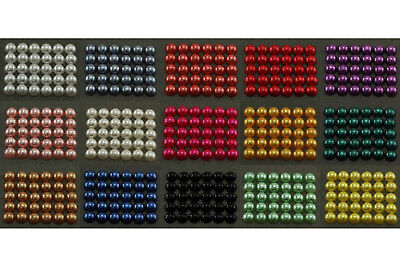 5mm 500pcs Half Pearl Beads Flat Back, 15 Colors to choose from - US Stock