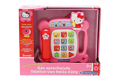 Clementoni 69881.3 - Hello Kitty -sprechendes Telefon Sprachausgabe Leuchttasten