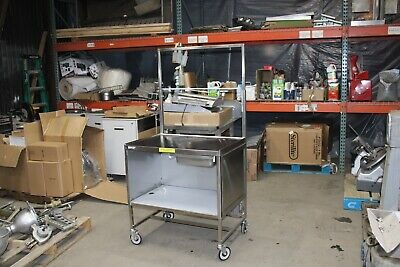 Win-holt Sssc-3624 Stainless Store Food Demo Cart Display Sample Nsf Kiosk