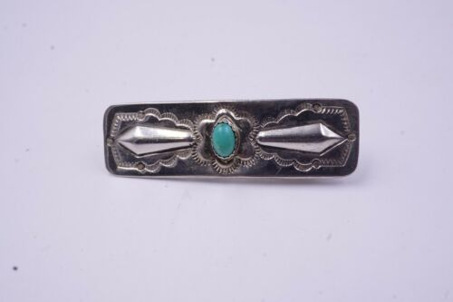 Vintage Native American Turquoise Beautiful Hair Clip 1.78
