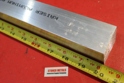 """1-1/2"""" X 1-1/2"""" ALUMINUM SQUARE 6061 T6511 20"""" Long SOLID EXTRUDED SQUARE BAR"""