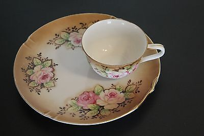 Beautiful Flowered Luncheon Set Plate and -