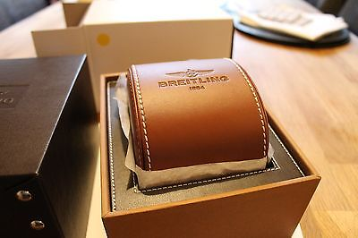 100% Genuine New Breitling Watch Storage Box and Leather Travel Case and Cushion