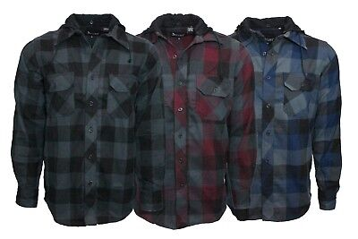 Buffalo Plaid Flannel - Men's Flannel w/Hoodie Buffalo Plaid Chexs Long Sleeve premium quality .