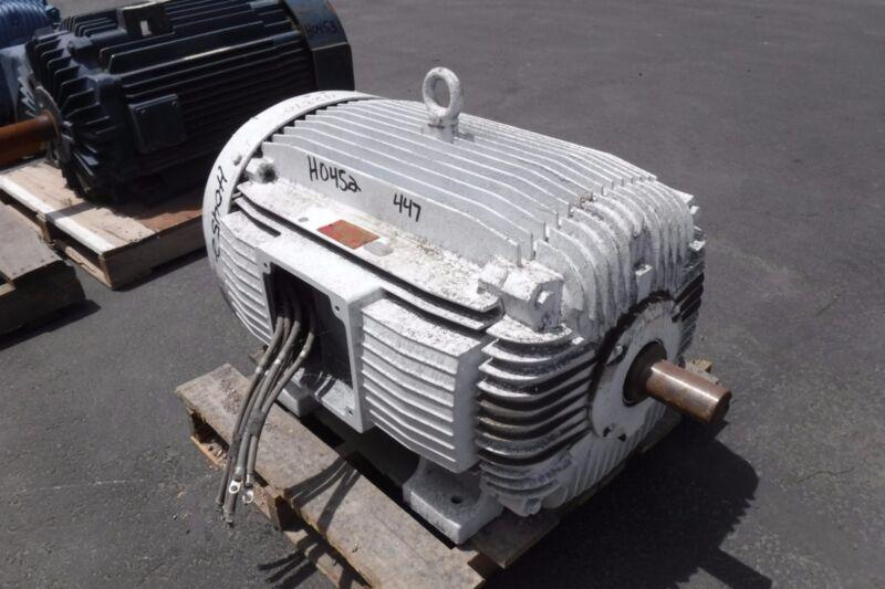 200 Hp Weg Electric Motor, 1800 Rpm, 447ts Frame, Tefc, 460 V, 1.15 S.f.