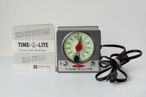 TESTED Time-O-Lite Master M-72 60-Second Darkroom Timer w/ Instructions