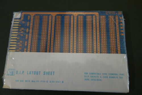 Vero D.I.P. Layout Proto I.C. Board Sheet # 06-0147B NOS