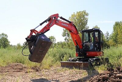 50 Hydraulic Ditching Grading Bucket For Kubota Kx161 U45 Mini Excavators