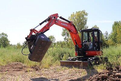 50 Hydraulic Ditching Grading Bucket For Kubota Kx161 U45 Mini Excavators
