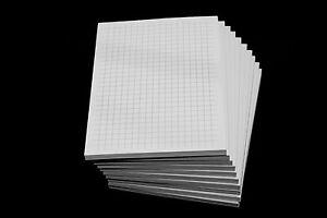 6 x Notizblock kariert - karierte Blocks  DIN A5 - 80g/m² Papier - Notizen grau