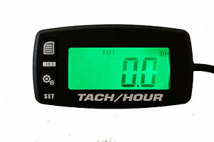 Inductive Tachometer Hour meter w/ Maint  Reminder, For Spark Ignition Engines
