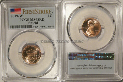2019 W Lincoln Shield Cent 1c PCGS MS68RD Uncirculated FIRST STRIKE