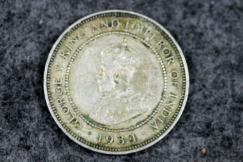 1934- JAMAICA- FARTHING- GEORGE V- SILVER COIN- KM# 24 RARE #L00981