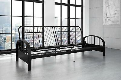 Aiden Futon Metal Mesh Frame Sturdy Low Seating Convertible Sofa Bed Full Size