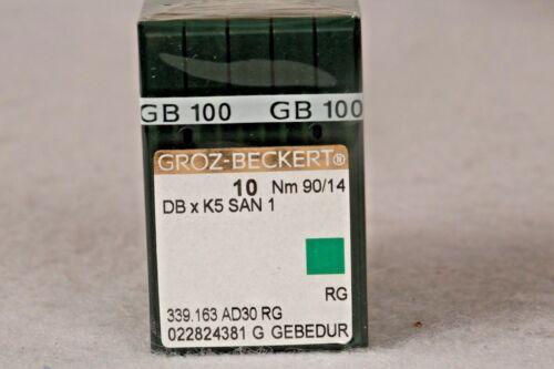 100 QTY GROZ BECKERT INDUSTRIAL EMBROIDERY MACHINE NEEDLES DBXK5 SAN 1  10 90/14