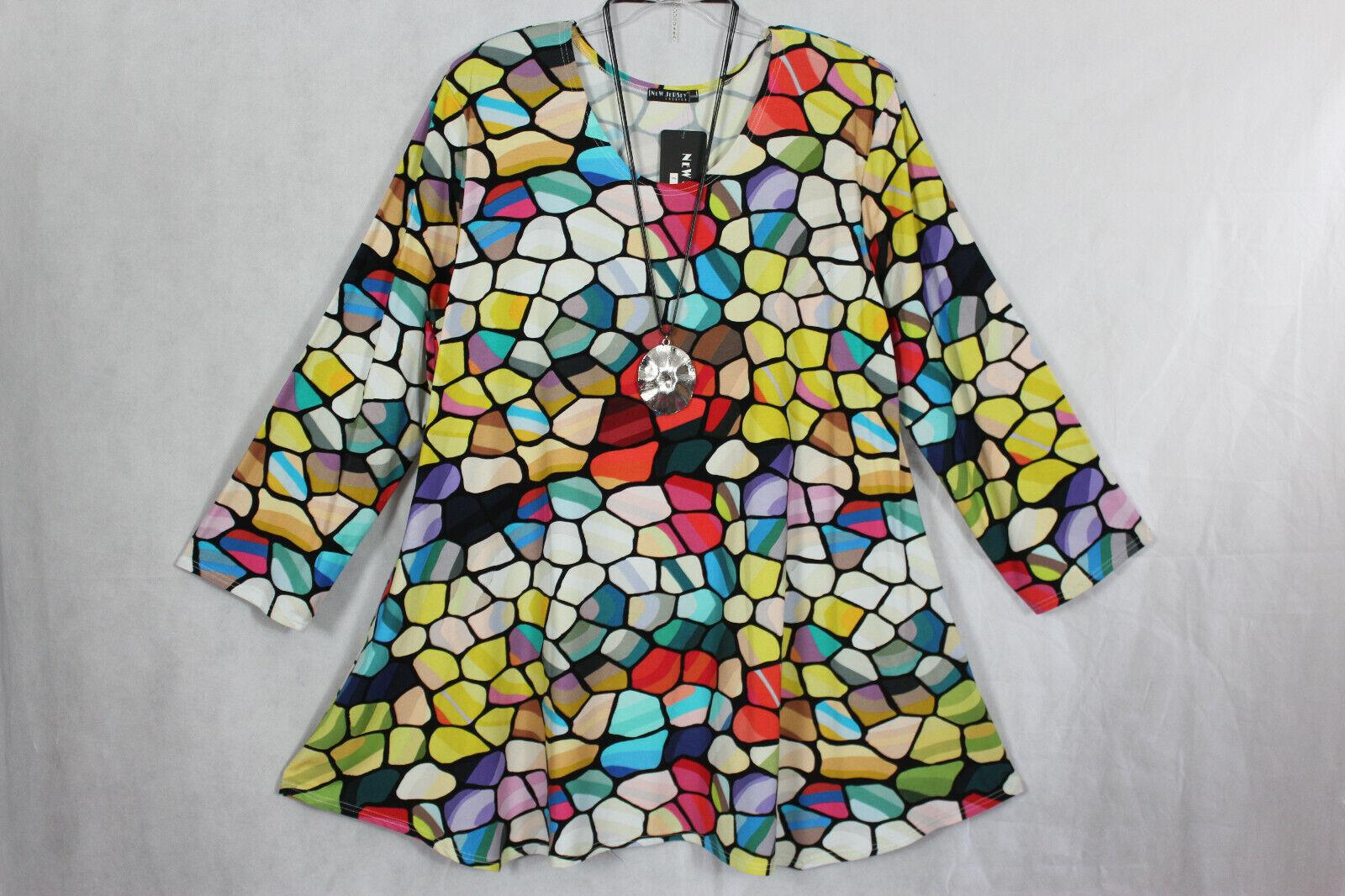 New Jersey 🧡 Eyecatcher Tunika, Shirt, Kleid A-Linie Gr.XXXXL (52/54)