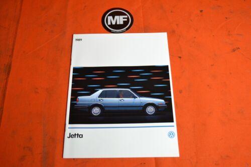 VW MK2 Jetta 1989 Dealership Brochure Mint Condition
