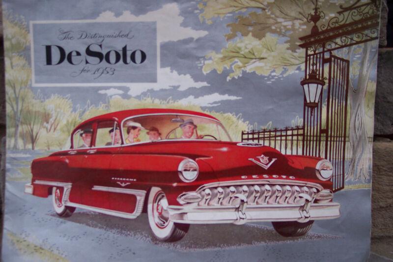 1953 DeSoto Color Brochure DEALER STAMPED Neidhart Auto EMSWORTH,PA