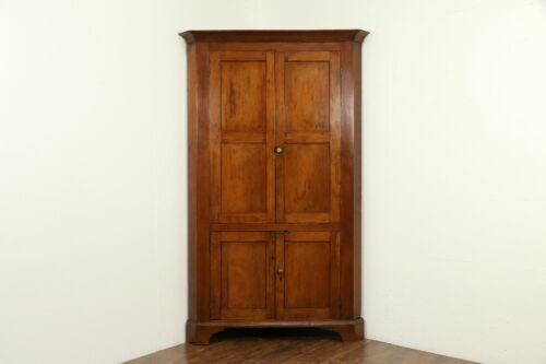 Cherry Antique 1840 Corner Cabinet, Pennsylvania Cupboard #33109