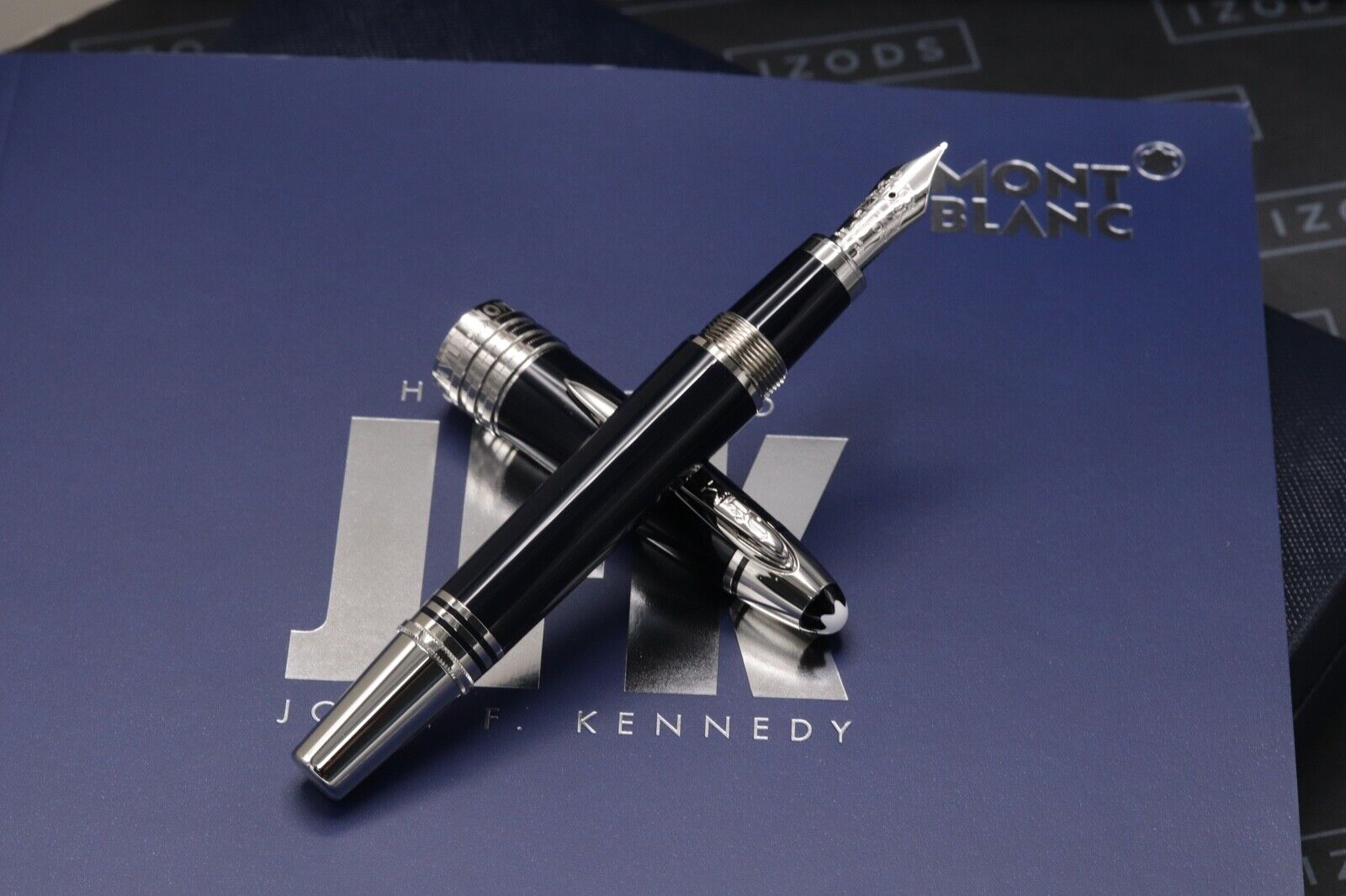 Montblanc Great Characters JFK Blue Special Edition Fountain Pen - UNUSED 1
