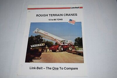 Link-belt Construction Equip. 15 To 60 Tons Rough Terrain Cranes Sales Brochure