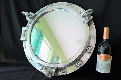 Authentic Ship Salvage Marine Port Hole 3 Dog Porthole Bathroom Mirror Nautical