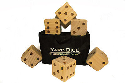 Yard Yahtzee, Farkle, Outdoor Dice Games With Carrying Case and Score Sheets