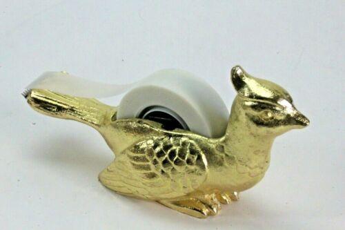 Gold Metal Bird Scotch Tape Dispenser.