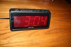 Craig AM/FM Digital Alarm Clock Radio (Model No. CR41803)