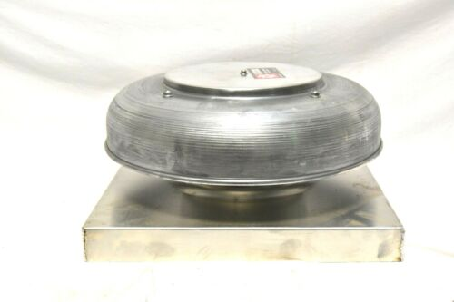 "Cook Spun Aluminum Gravity Roof Vent, Curb Mount  18"" Base/9"""